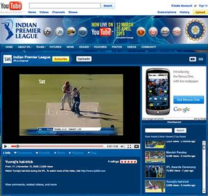 IPL 2010 Youtube Video, IPL 2010 webcast on YouTube,